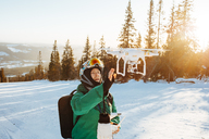Man with Drone during winter - FOLF06376