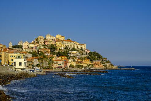 Italy, Liguria, Riviera di Ponente, Imperia, townscape in the evening light - LBF01876