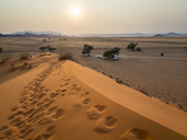 Africa, Namibia, Namib desert, Naukluft National Park, Sossusvlei, Elim dune at sunrise - RJF00767