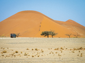 Africa, Namibia, Namib desert, Naukluft National Park, Sossusvlei, Dune 45 and tourists - RJF00773