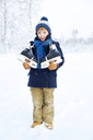 Portrait of young boy with ice skates - FOLF08010