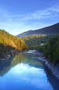 View of river in forest at sunset in Sjardalen, Norway - FOLF08049