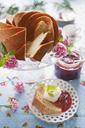 Almond cake with strawberry jam - FOLF08646