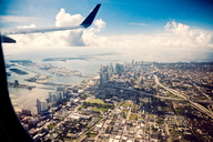 View of Miami cityscape from airplane - FOLF08988