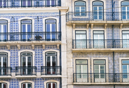 Portugal, Lisbon, facades of two multi-family houses, partial view - TAMF01011