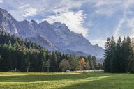 Germany, Garmisch-Partenkirchen, Grainau, view to Wetterstein with Zugspitze - PVCF01296