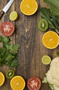 Fruits and vegetables on wood - SKCF00399