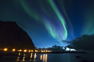 Norway, Lofoten Islands, Eggum, northern lights - WVF01041