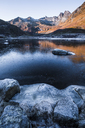 Norway, Lofoten Islands, frozen water - WVF01056