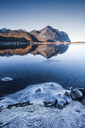 Norway, Lofoten Islands, frozen water - WVF01065
