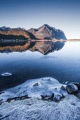 Norway, Lofoten Islands, frozen water - WVF01065