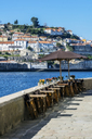 Portugal, Porto, Douro river, tables of an restaurant - THAF02150