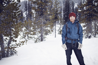 Portrait of hiker in mountains - CAVF35278