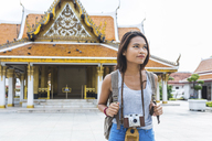 Thailand, Bangkok, portrait of tourist with camera - WPEF00181