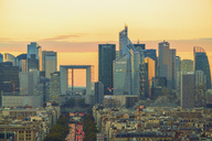 France, Paris, La Defense with La Grande Arche at sunset - TAM01034