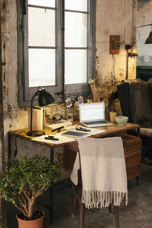 Home office with laptop in a loft - EBSF02272