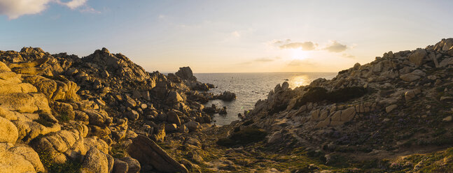 Italy, Sardinia, sunset at the coast - KKAF00961