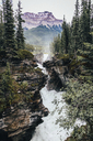 High angle view of waterfall at Jasper National Park - CAVF36543