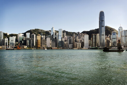Victoria harbour against cityscape - CAVF36771