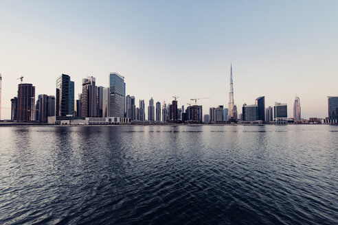 Cityscape and Dubai creek against clear sky - CAVF37497