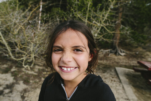 Portrait of happy girl at Inyo National Forest - CAVF37581