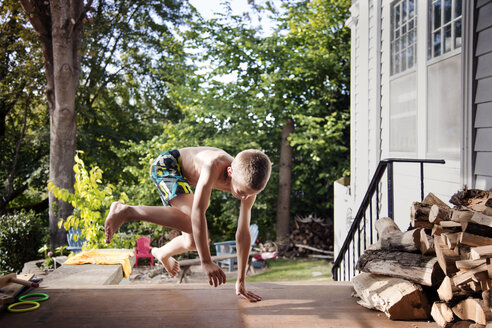Boy playing outdoors - CAVF37869