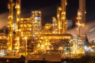 United Kingdom, Grangemouth, Petrochemical refinery at night - SMAF01004