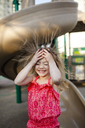 Happy girl in playground - CAVF38330