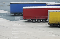 Trucks parked at ferry terminal - MASF04579