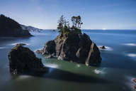 High angle view of rock formations amidst sea at Boardman State Park - CAVF38748