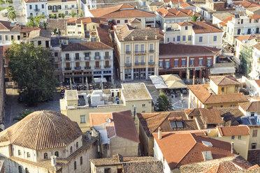 Greece, Peloponnese, Argolis, Nauplia, Old town, Syntagma square and Vouleftiko Mosque - MAMF00042