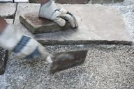Slab, man paving - CRF02785