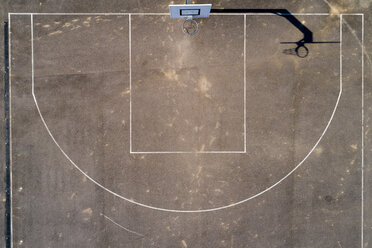 Empty basketball ground, top view - STSF01484