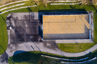 Empty basketball ground, top view - STSF01490