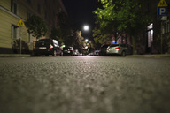 Cars parked on street at night - MASF05854