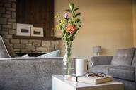 Flower vase on side table in living room - CAVF43606