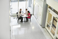 High angle view of business people in meeting - MASF06301