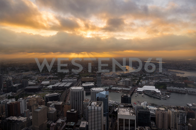 Australia, New South Wales, Sydney, Darling Harbour and sunset - MKFF00338