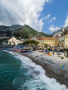 Italy, Campania, Sorrento Peninsula, Amalfi Coast, Amalfi with cathedral - AMF05698