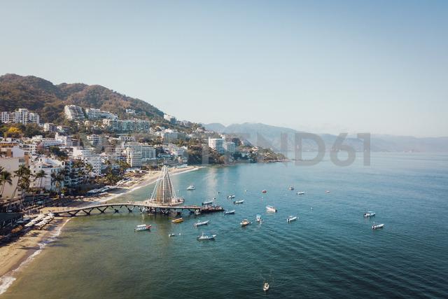 Mexico, Jalisco, Aerial view of Playa Los Muertos, beach and pier in Puerto Vallarta - ABAF02208 - André Babiak/Westend61
