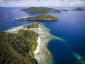 High angle view of Raja Ampat Islands against sky - CAVF47351