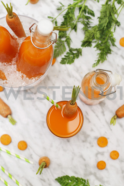 Refreshing carrot juice on marble - RTBF01196