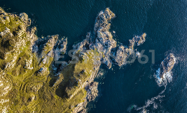 United Kingdom, Scotland, Northwest Highlands, aerial view of rocky coast - STS01504