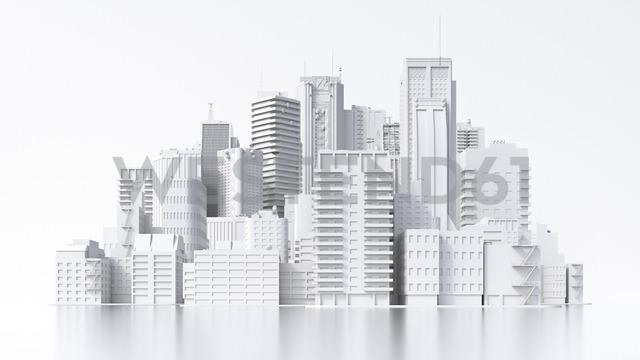 Model of a city, 3d rendering - UWF01373