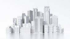 Model of a city, 3d rendering - UWF01373