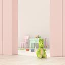 Children's room behind ajar door, 3d rendering - UWF01376