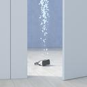 VR glasses in a room behind ajar door, 3d rendering - UWF01385