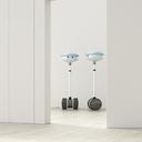 Two robots behind ajar door in an empty room, 3d rendering - UWF01400