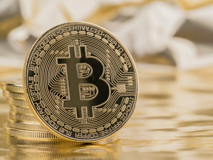 Bitcoin, coins, cryptocurrency - EJWF00873