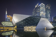 China, Guangzhou, opera house at night - SPP00008